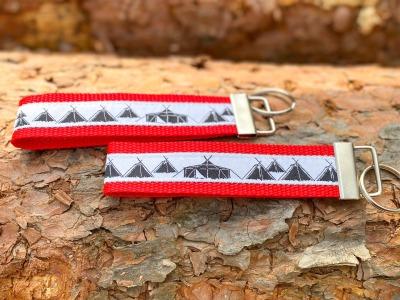 Pfadfinder Schlüsselband in rot Webband weiß