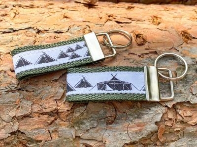 Pfadfinder Schlüsselanhänger kurz in olivgrün Webband