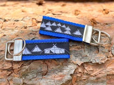 Pfadfinder Schlüsselanhänger kurz in royalblau Webband