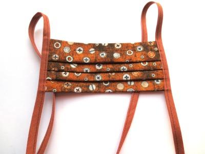 Behelfs-Maske Schrauben 100 Baumwolle mit Bändern
