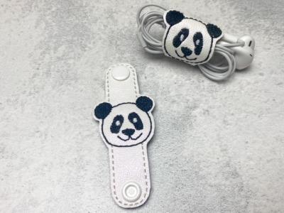 Kabelhalter Panda - Kunstleder