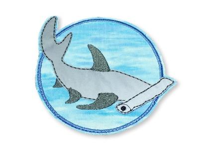 Klett-Patch Hammerhai - ca 10 cm