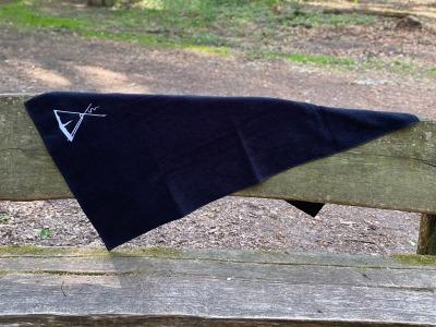 Dusch-Handtuch Kohte bestickt cm schwarz mit