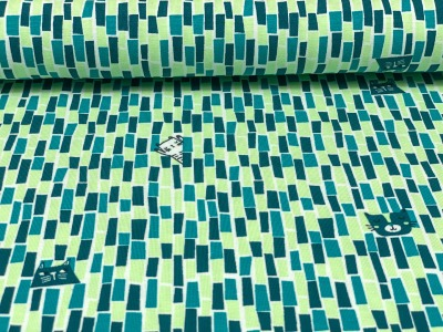 Jersey Katze Blaubeerstern Miau in petrol/mint