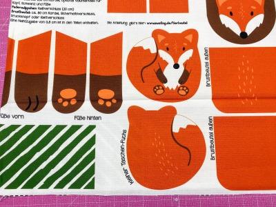 Tierbeutel Fuchs von Käselotti Canvas 100