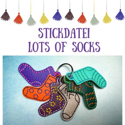 Stickdatei Lots of Socks Varianten 10x10