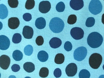 Jersey Flecken - blau - unregelmäßige