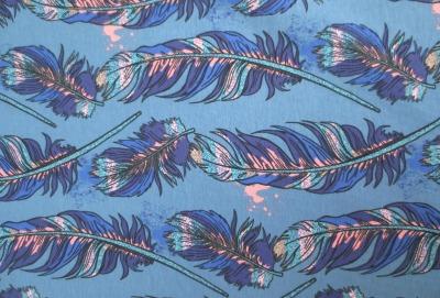 Jersey Federn - blau