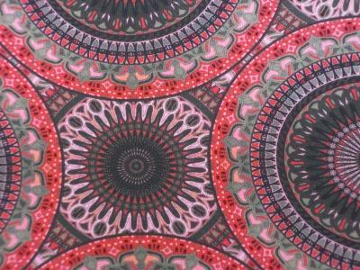 Jersey Mandala - Rottöne- Ornamente