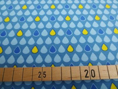Jersey Regentropfen - blau - gelb