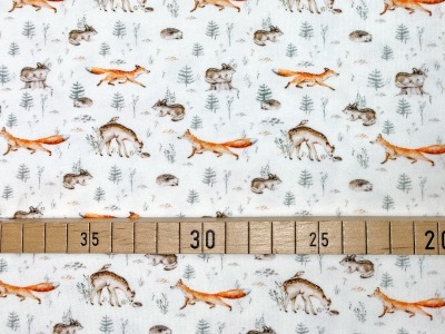 Jersey Tiere rohweiß Fuchs Reh Igel