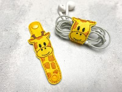 Kabelhalter Giraffe - Kunstleder