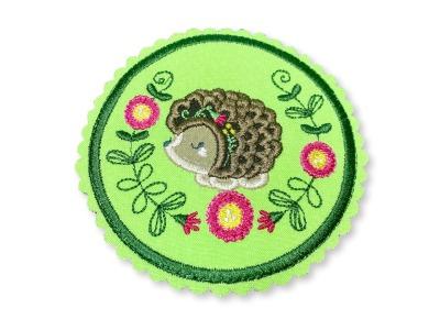 Klett-Patch Igel ca cm Durchmesser Igelmädchen