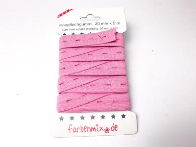 Knopflochgummiband - pink - 5m