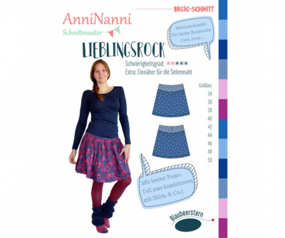 Lieblingsrock von AnniNanni - Papierschnittmuster -