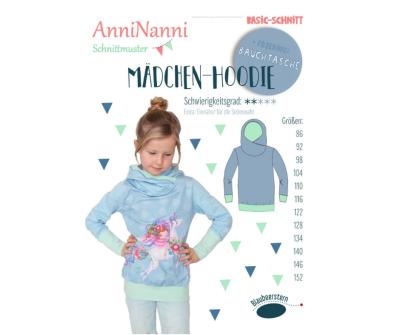 Mädchen Hoodie von AnniNanni - Papierschnittmuster