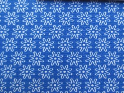 Stoff Blumen blau - 100 Baumwolle