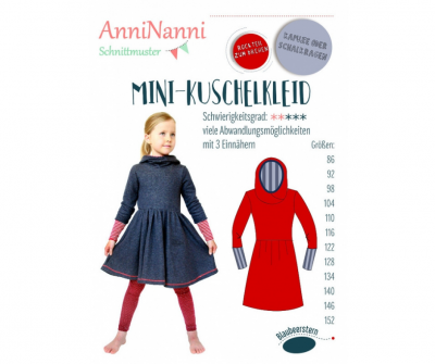 Mini-Kuschelkleid von AnniNanni - Papierschnittmuster -