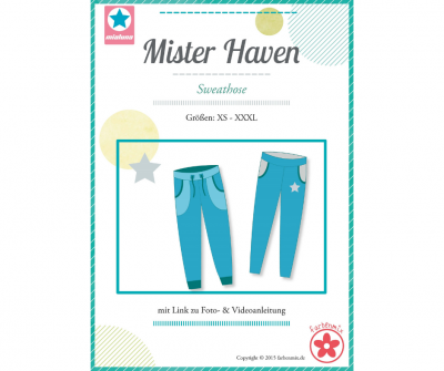 Papierschnittmuster Mister Haven Sweathose
