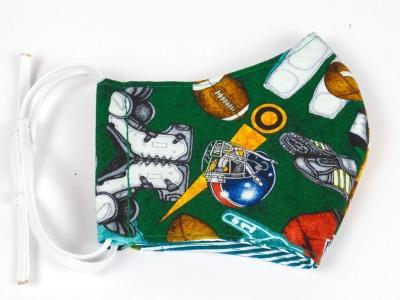 Alltagsmaske Football Ausrüstung grün 100 Baumwolle