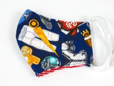 Alltagsmaske Football Ausrüstung blau 100 Baumwolle