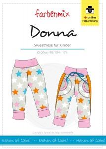 Donna - Papierschnittmuster - Sweathose für