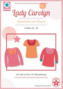 Papierschnittmuster Lady Carolyn Damenshirt mit Einsatz-