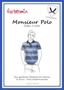 Monsieur Polo Papierschnittmuster Poloshirt für Herren