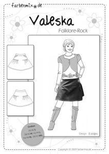 Valeska - Papierschnittmuster - Folklore Rock