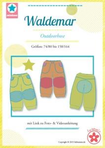 Papierschnittmuster Waldemar Outdoorhose Kids Mia Luna