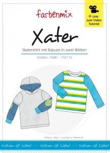 Xater - Papierschnittmuster - Skatershirt