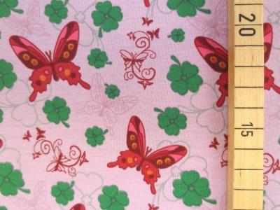 Jersey Schmetterling - rosa - Glücksklee