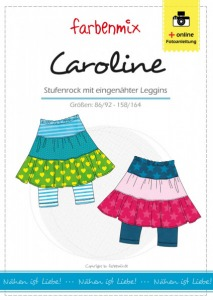 Caroline Papierschnittmuster Stufenrock mit eingenähter Leggins