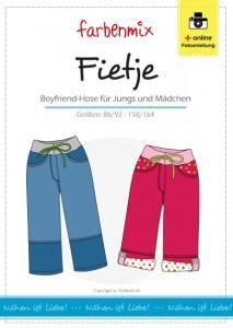 Fietje Papierschnittmuster Boyfriend Hose für Jungen