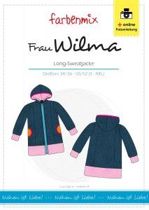 Frau Wilma - Papierschnittmuster - Long-Sweatjacke