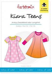 Kiara Teens Papierschnittmuster Kleid oder Longshirt