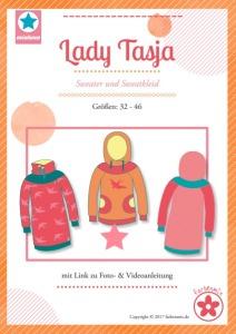 Papierschnittmuster Lady Tasja Sweater und Sweatkleid
