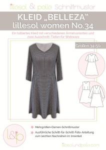 Papierschnittmuster Kleid Belleza lillesol und pelle