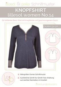 Papierschnittmuster Knopfshirt Lillesol und Pelle women