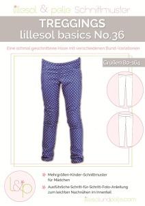 Papierschnittmuster Treggings Lillesol und Pelle basics