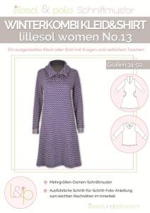 Papierschnittmuster Winterkombi Kleid und Shirt lillesol