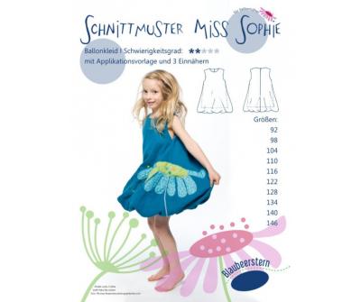 Ballonkleid Miss Sophie von Blaubeerstern Papierschnittmuster