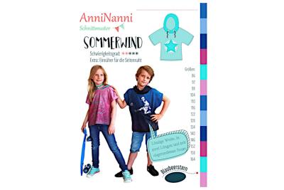 Sommerwind von AnniNanni Papierschnittmuster Blaubeerstern Kids