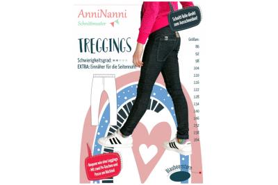 Treggings von AnniNanni Papierschnittmuster Blaubeerstern Kids