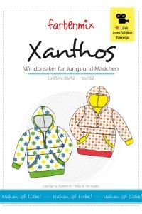 Xanthos Papierschnittmuster Windbreaker für Jungs und