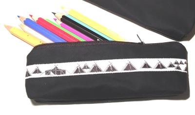 Pfadfinder Stiftetasche mit Kothenwebband in weiß