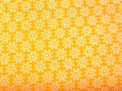 Stoff Blumen gelb - 100 Baumwolle