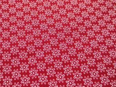 Stoff Blumen weinrot - 100 Baumwolle