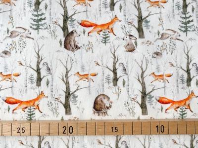 Jersey Waldtiere rohweiß Fuchs Bär Igel