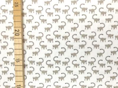Baumwollstoff Kattas Lemuren Halbaffen weiß 100